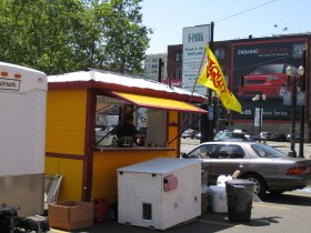 Dignity Dogs, our microbusiness food cart, created with support from Micro Enterprise Services of Oregon.