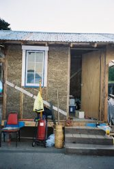 Cob house prior to plastering