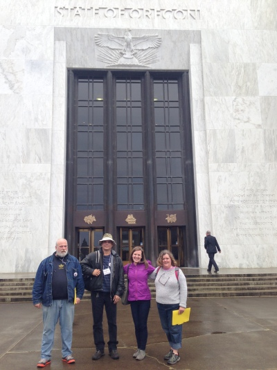 Dignity Village visits the State Capitol